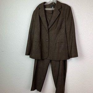 Lafayette 148 wool blend suit Jacket 14 pants 20
